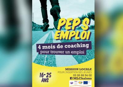 Création du visuel pour le dispositif Pep's Emploi pour la Mission Locale de Châlons en Champagne