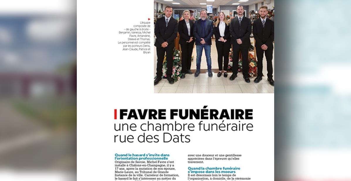 Extrait de l'article Favre funéraire, une chambre funéraire rue des Dats, par Com'incréation pour Le Saint Martinais