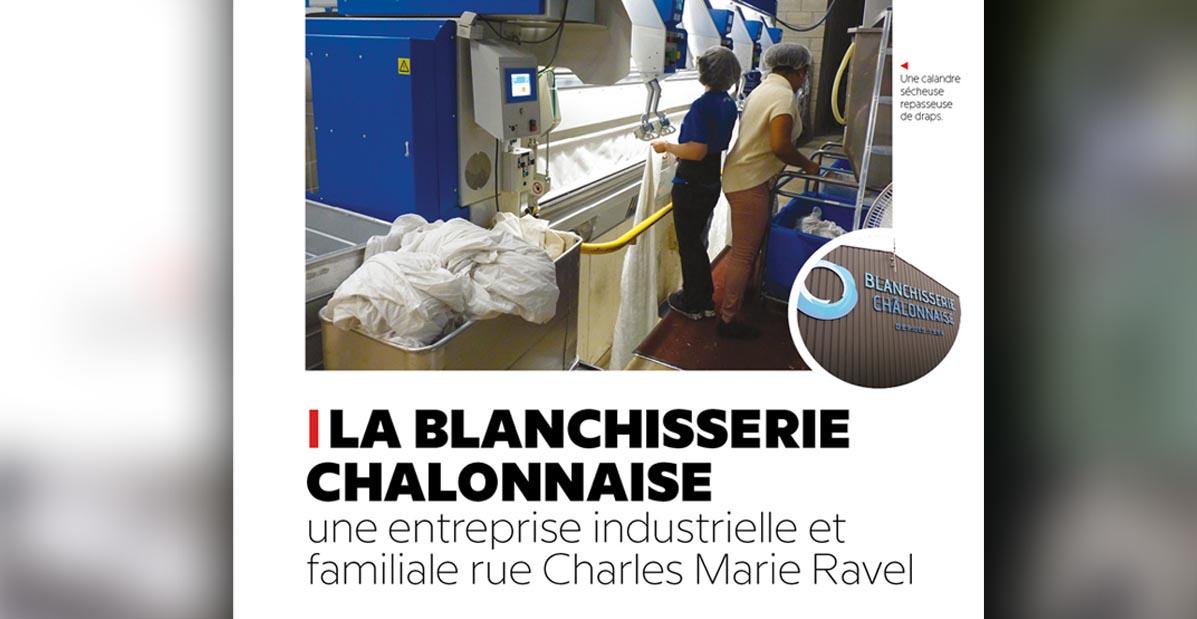 """Extrait de l'article """"La Blanchisserie Chalonnaise, une entreprise industrielle et familiale"""" par Com'incréation pour le Saint Martinais"""