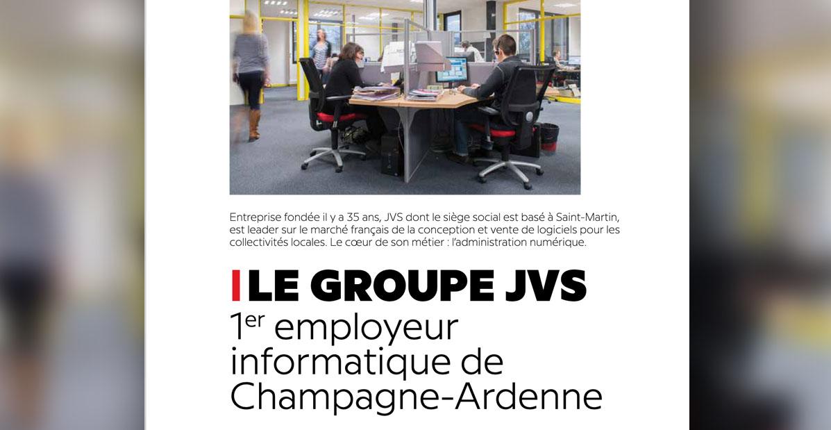 """Extrait de l'article """"Le Groupe JVS, 1er employeur de Champagne Ardenne"""" par Com'in création pour Le Saint Martinais"""